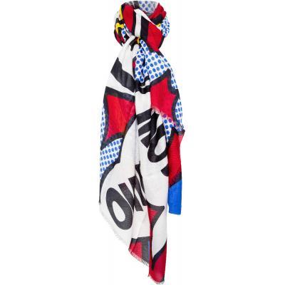 Schal im Modal-Kaschmirmix mit `Popart`-Motivprint-0