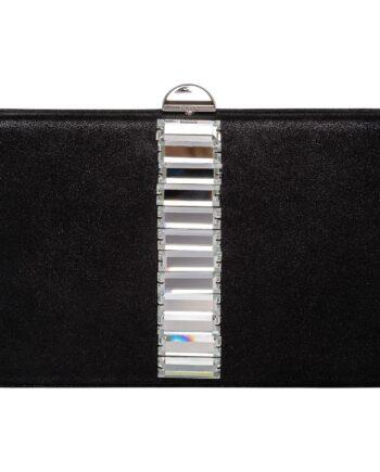Box-Clutch mit grafischer Kristallstein-Zier und mit integriertem Ketten-Schultergurt-0