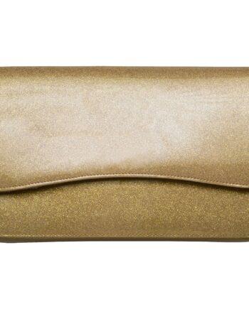 Tasche in Metallicleder mit Magnetverschluß und abnehmbarem Kettenschulterriemen-0