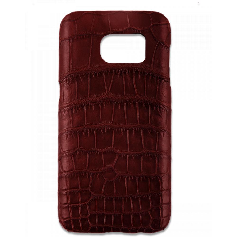 Handgefertigte Samsung Galaxy S7 Edge Hülle aus Alligatorleder-39851