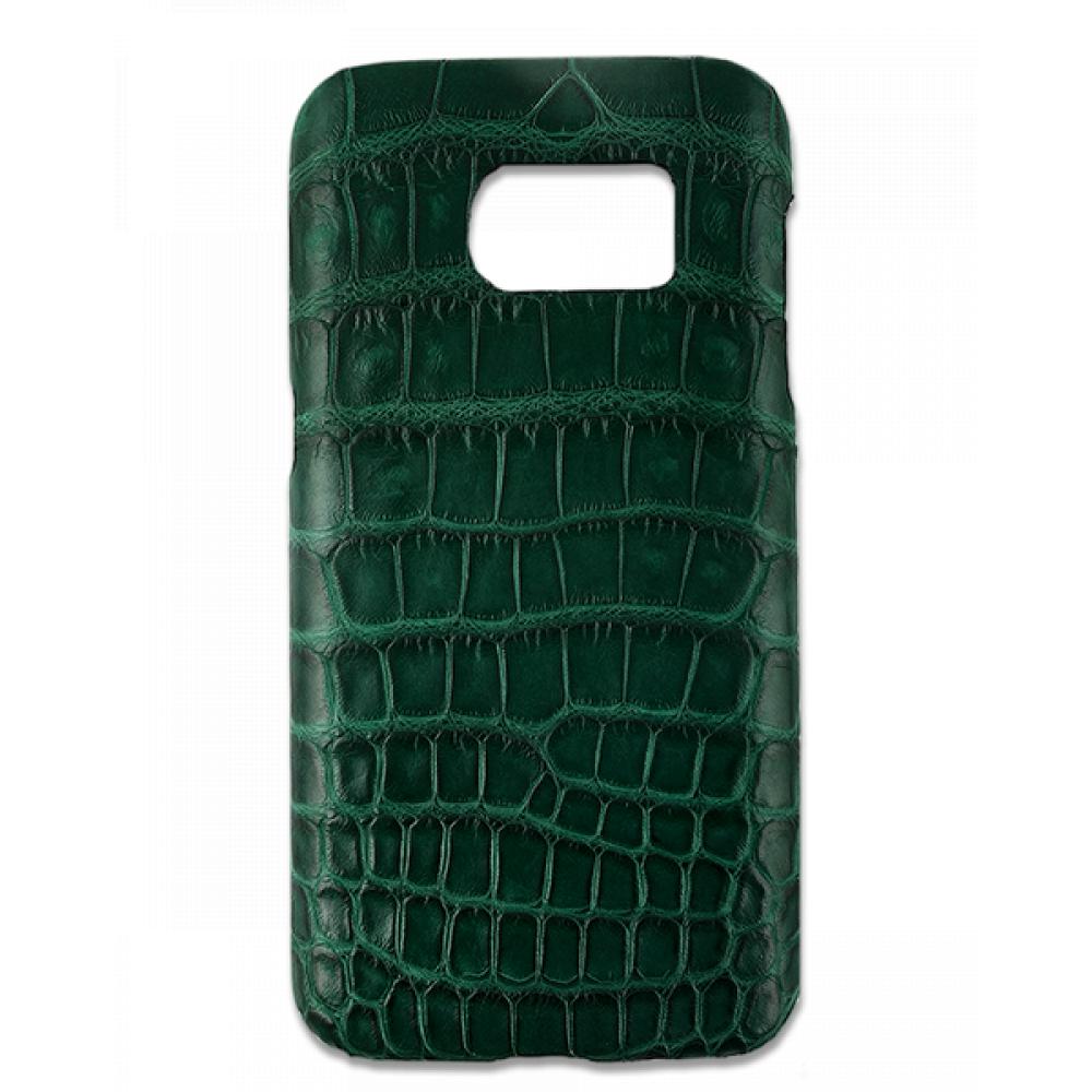 Handgefertigte Samsung Galaxy S7 Edge Hülle aus Alligatorleder-39852