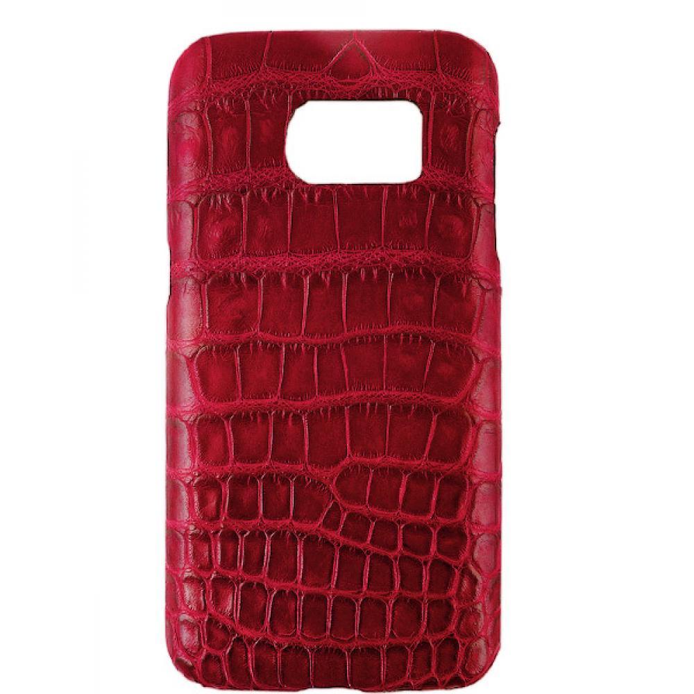Handgefertigte Samsung Galaxy S7 Edge Hülle aus Alligatorleder-39854