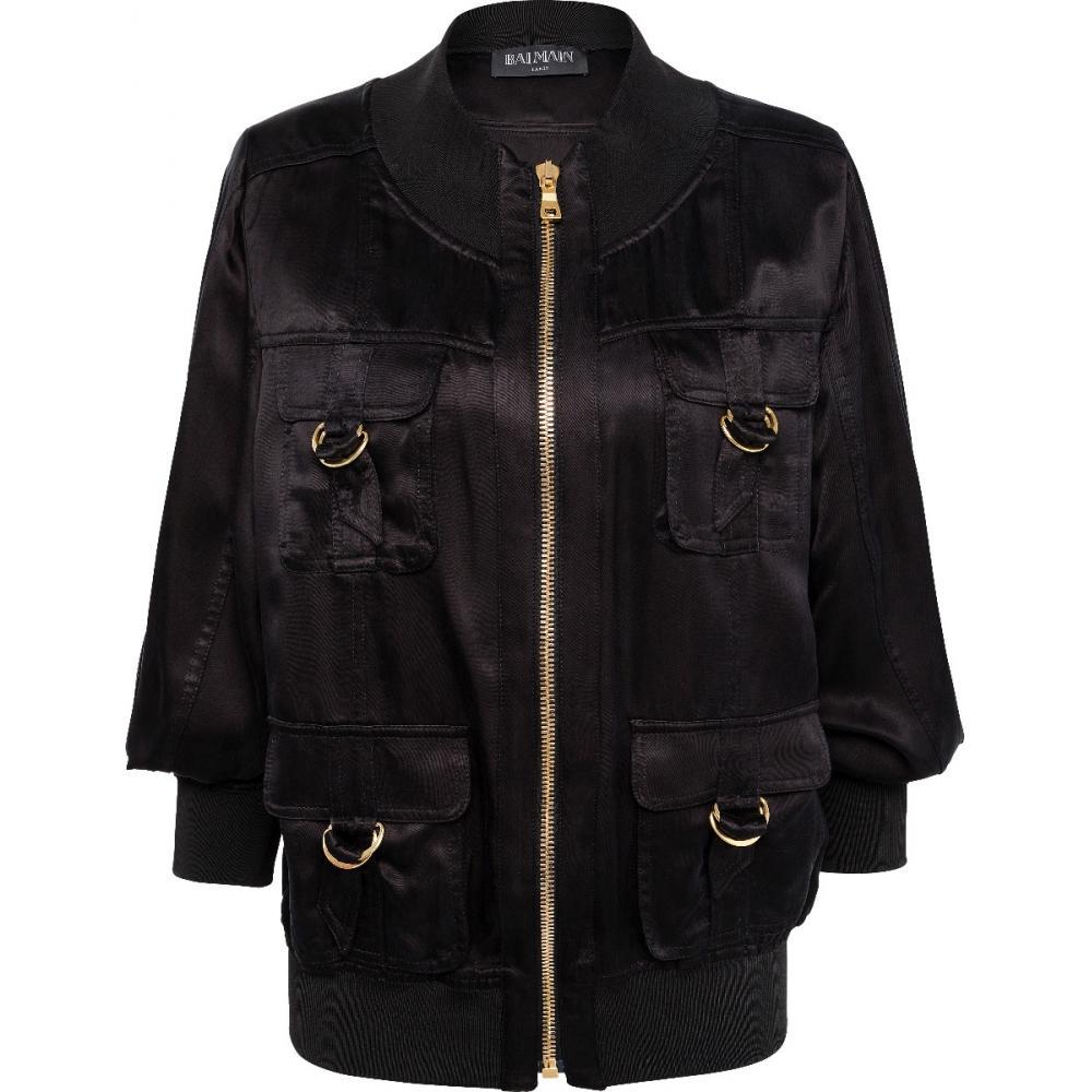 Jacke im Wide-Cut mit elastischen, breiten Bündchen und Schnallen-Details-0