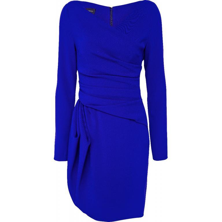 Mini-Kleid mit kleinem V-Ausschnitt, Raffungen und Drapierungen-0