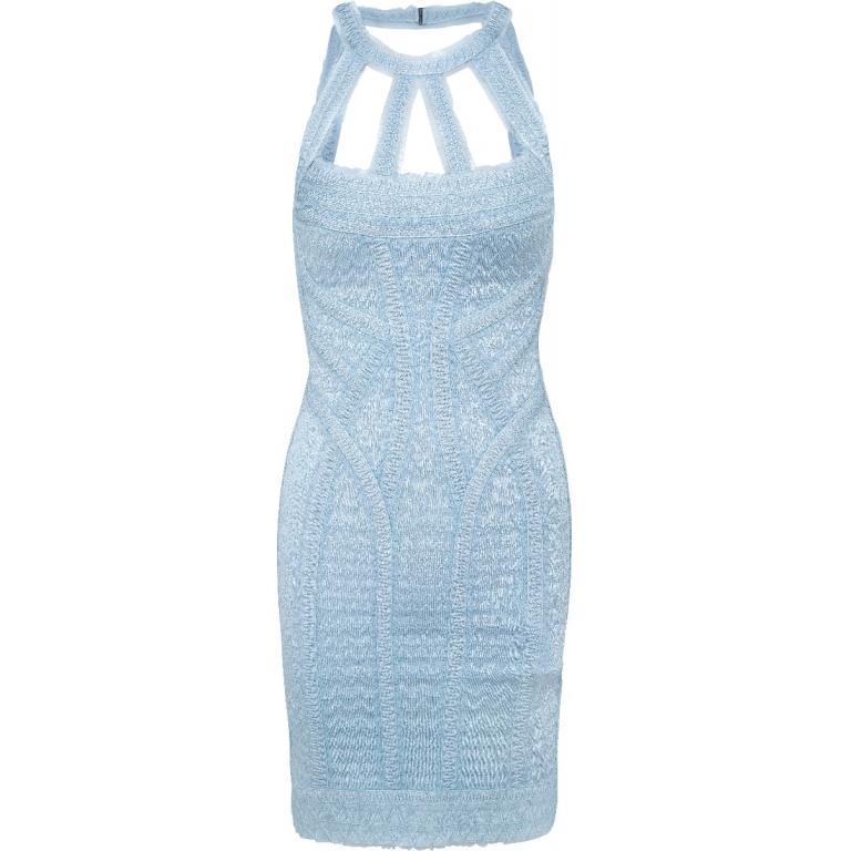 Bandage-Dress in Mini-Länge mit Cut-Out-Dekolleté-0