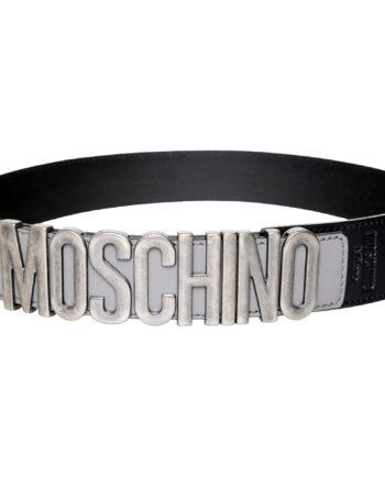 Glattledergürtel mit dekorativer Moschino-Logoschließe-0