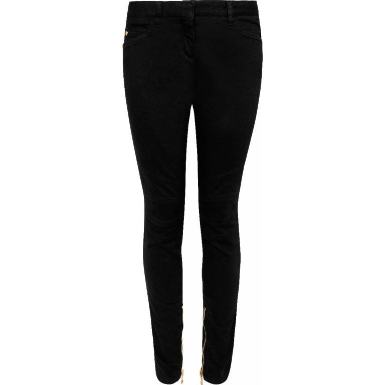 Low-Rise-Jeans im Slim-Cut in Stretch-Baumwolle mit Fesselzipp-Detail-0