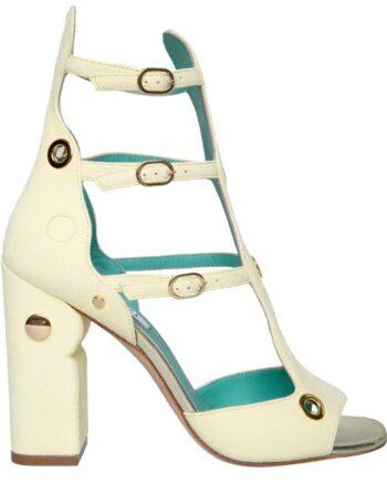 Cage-Heels aus Veloursleder mit Blockabsatz-0