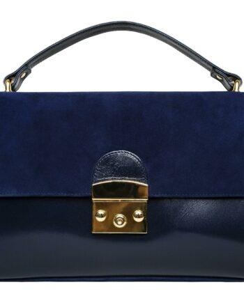 Maxi-Henkel-Bag aus Veloursleder mit zusätzlich, integriertem Kettenhenke-0