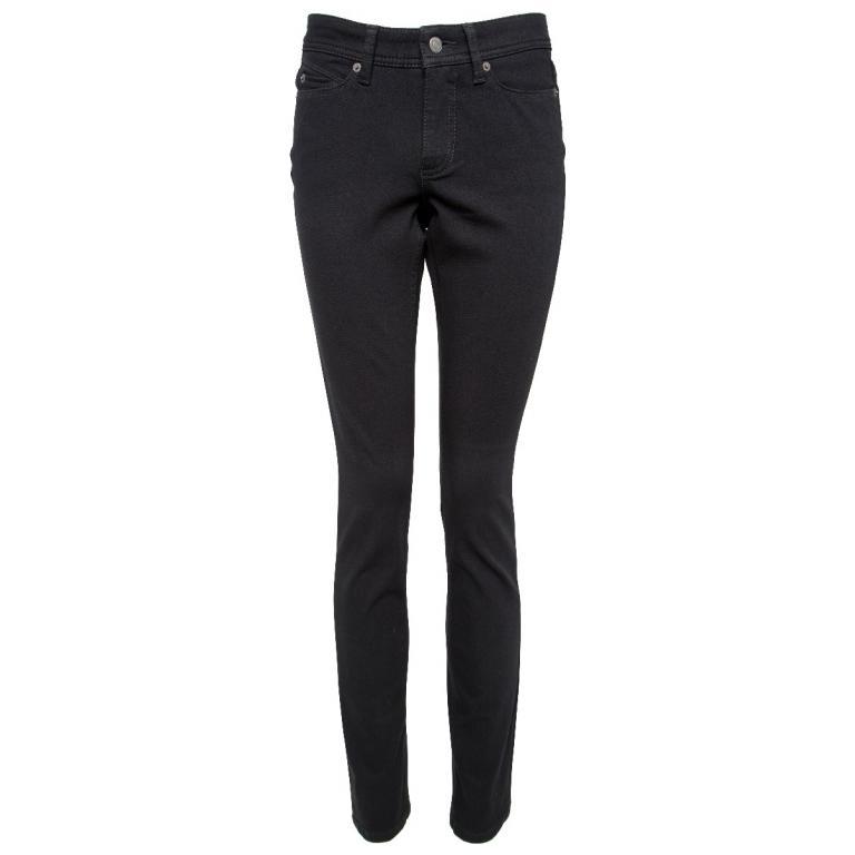 Baumwoll-Pants im Slim-Cut im High-Rise-Schnitt-0