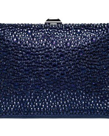 Fully embroidered box clutch with inbuilt shoulder strap -0