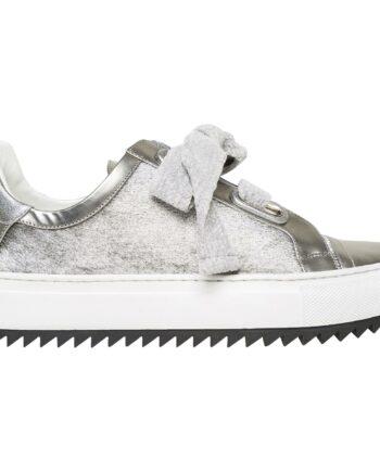 Sneakers mit Ponyfelldetails und Struktursohle-0