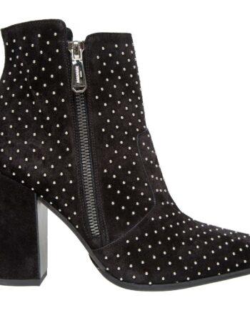 Ankle-Booties im Cowboy-Stil mit Nieten und breitem Absatz-0