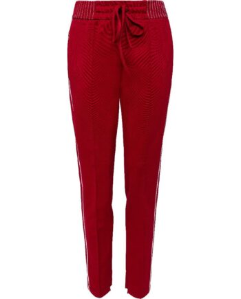 Jogg-Pants mit seitlichem Kontrastzierstreifen und breitem, elastischen Bündchen-0