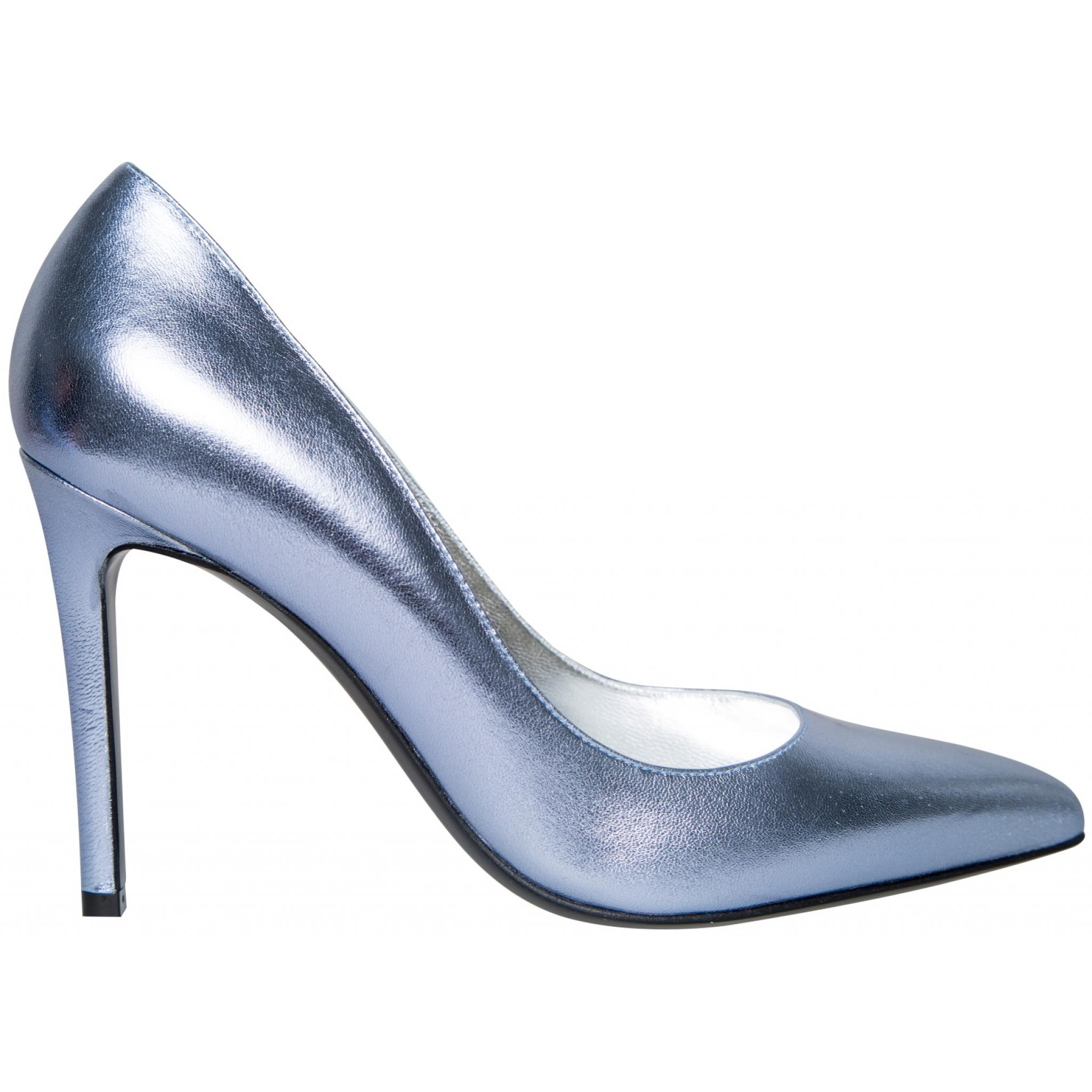 Pumps in Metallicleder mit High-Heel-Absatz-0