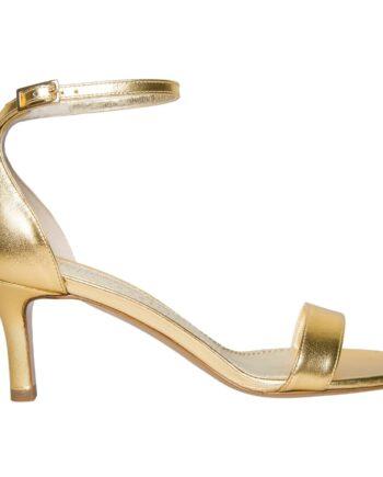 Sandaletten in Metallicleder mit zartem Fesselriemchen-0