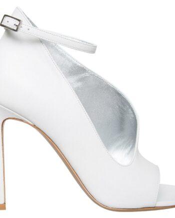 Peep-Toes mit High-Heels und Fesselriemchen-0
