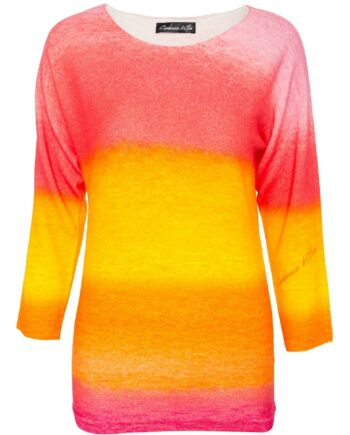 Pullover aus Kaschmir mit Farbverlaufprint-0