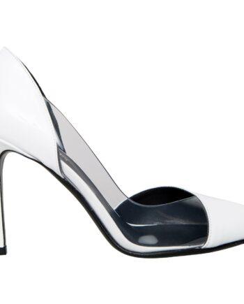 High-Heels in Lackleder mit transparentem Einsatz-0