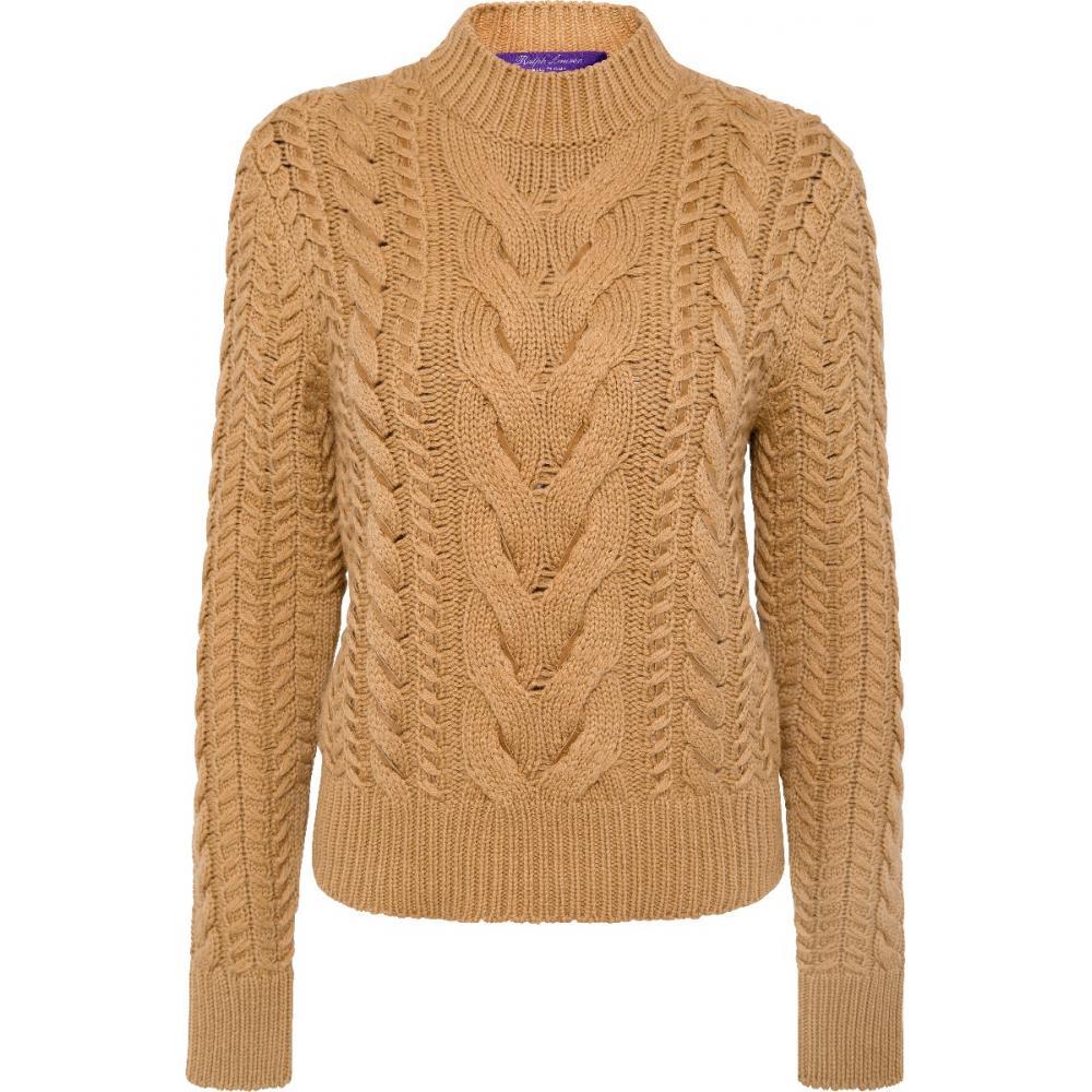 Pullover im Merinowolle-Kaschmirmix mit geflochtenen Details in Lammveloursleder-0