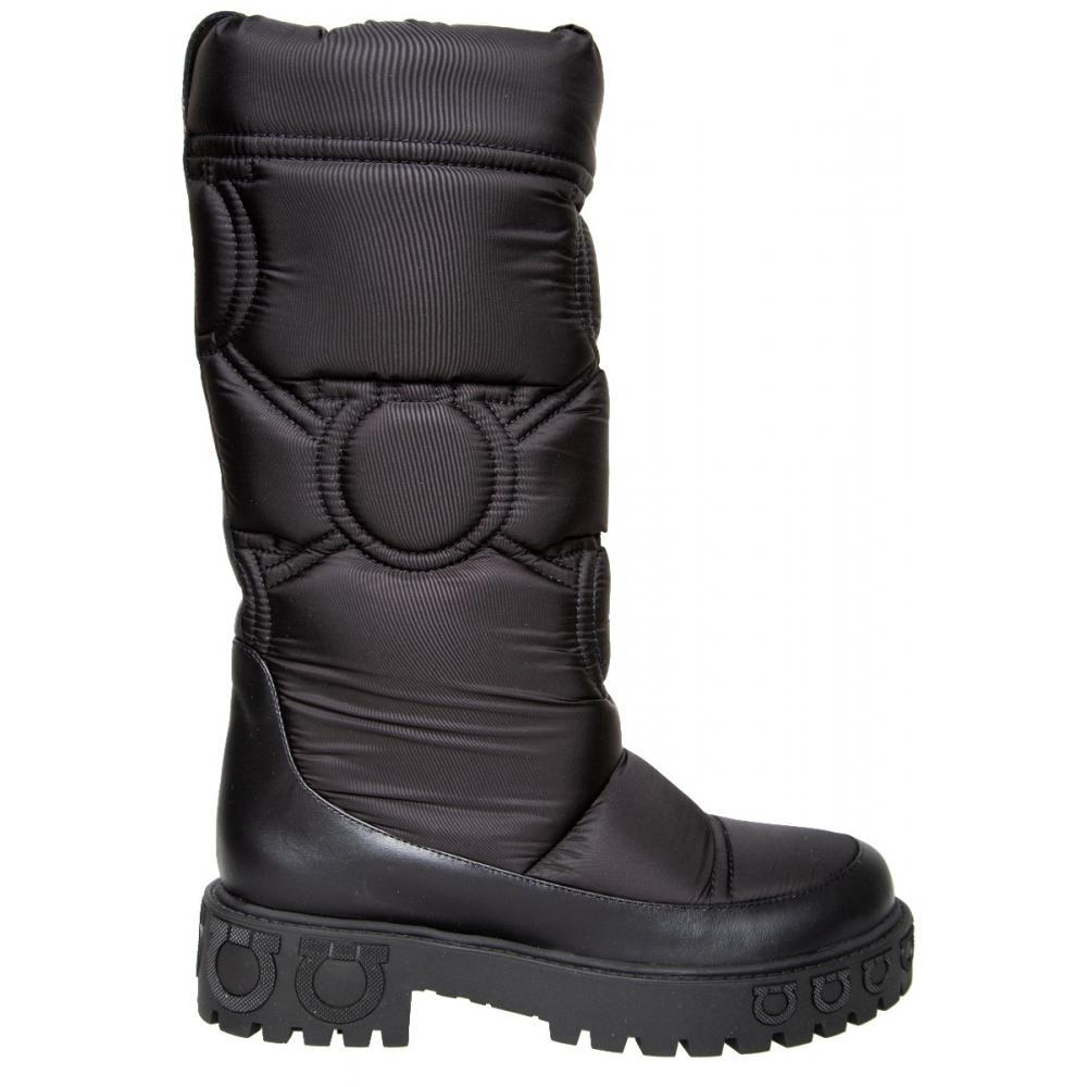 Boots mit Logo-Details an Schaft und Sohle-0