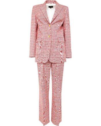 Anzug im Wollgemisch aus Oversize-Blazer und Hose im geraden Schnitt-0