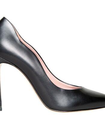 High-Heel-Pumps in Glattleder mit ondulierter Formgebung-0