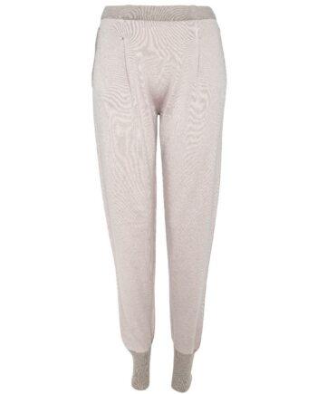Jogg-Pants im Kaschmir-Wollgemisch mit Silberdetails an den Schubtaschen-0