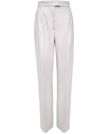 Hose im Schurwolle-Kaschmirgemisch mit hochgeschnittener Taille-0