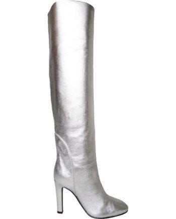 High-Heel-Boots in Metallicleder-0