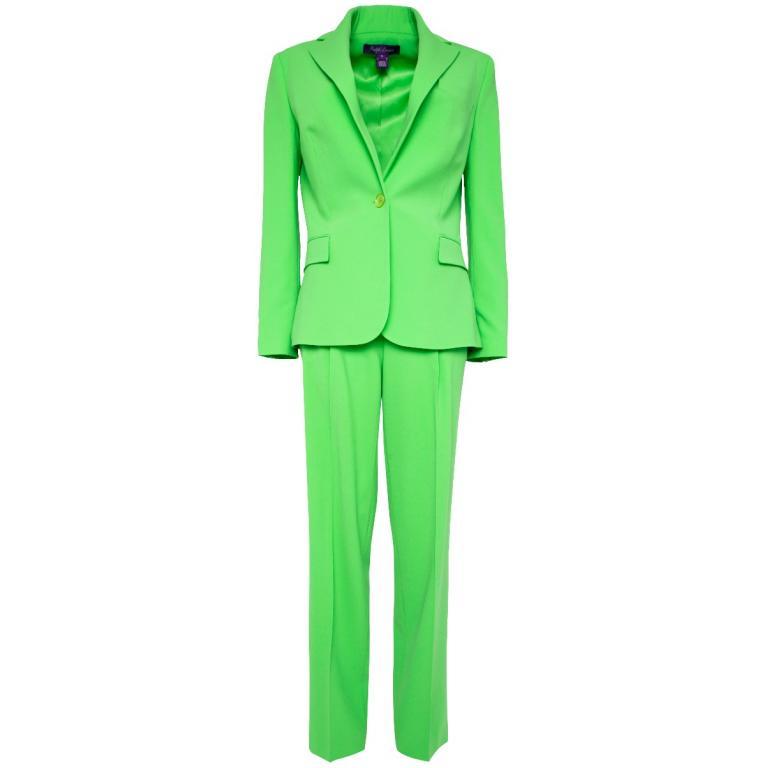 Anzug in Stretchwolle aus One-Button-Blazer und Hose im geraden, schmalem Schnitt-0