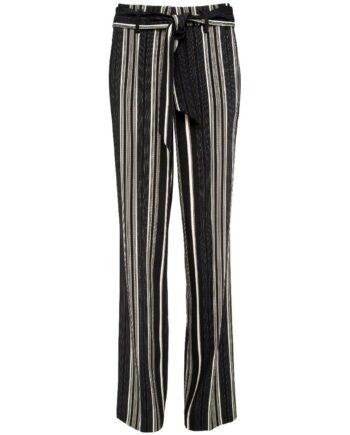 High-Waist-Pants im geraden, weiten Beinschnitt mit Bindegürtel-0