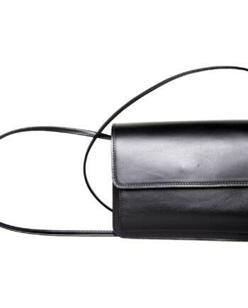Mini-Bag aus Glattleder mit langem Schultergurt-0