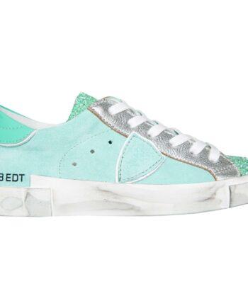 Sneakers im Materialmix mit Glitzerdetails-0