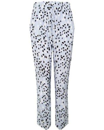 Hose in Seide mit Polka-Dot-Print und breitem, elastischem Bund-0