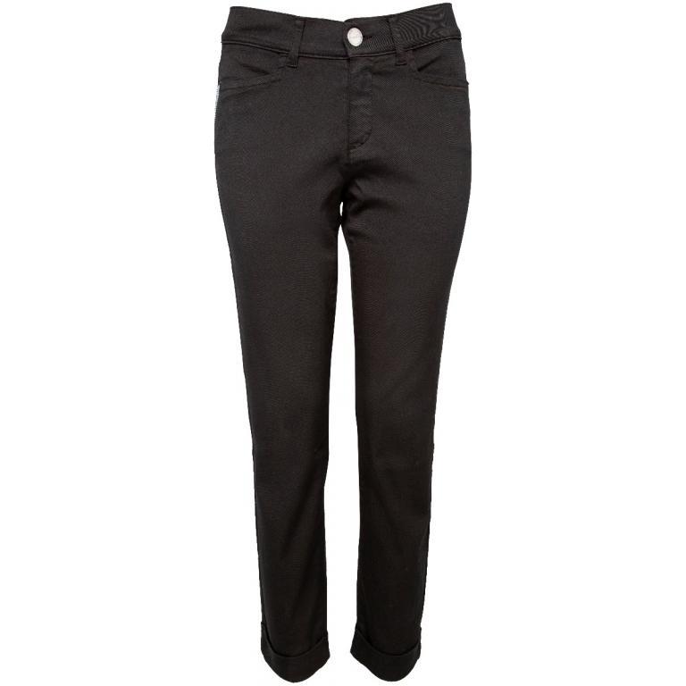 Slim-Pants mit grafischem Schmucksteinbesatz and den Taschen-0