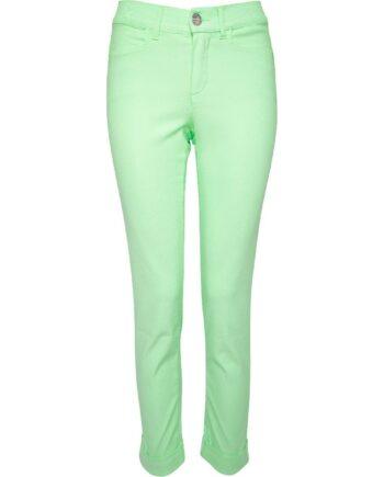 Pastell-Slim-Pants mit seitlicher Schmucksteinzier und Stulpen-0