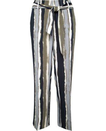 High-Waist-Pants in verkürzter Länge mit Taillenbindegürtel-0