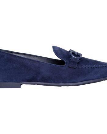 Loafers in Veloursleder mit Logo-Schnallenzier-0