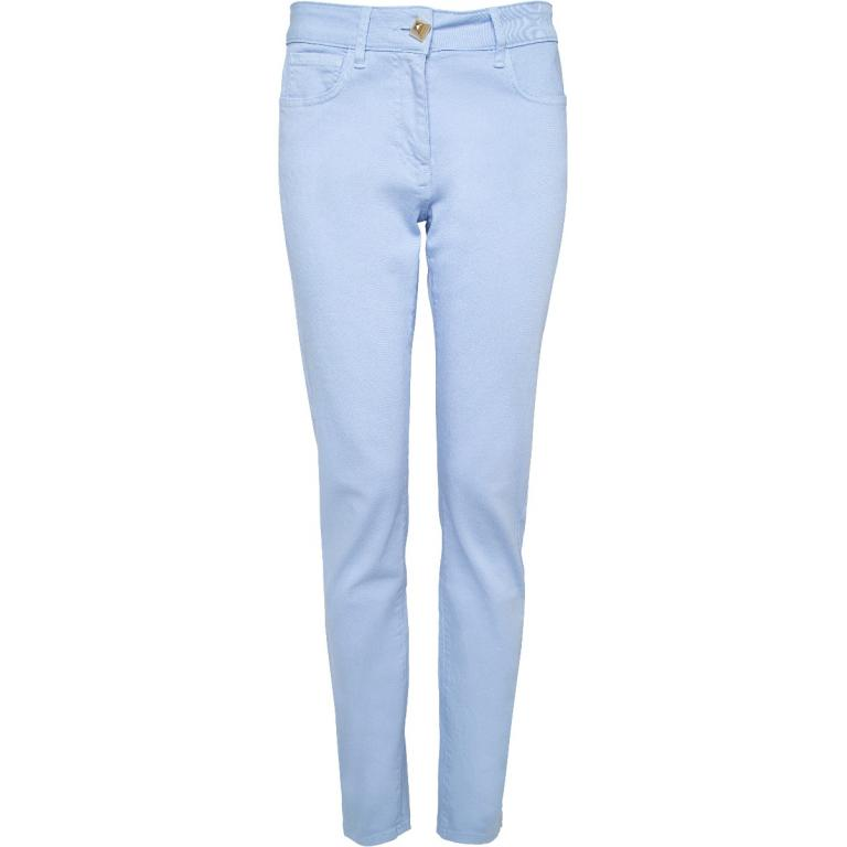 Denims im Slim-Cut mit Goldknopfzier-0
