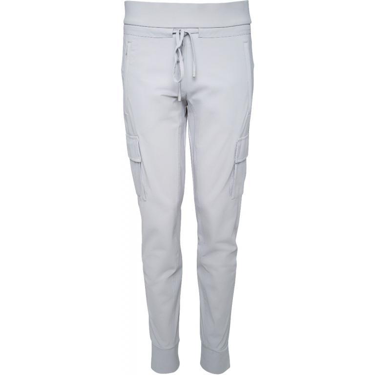 Jogg-Pants mit breitem, elastischen Bündchen und aufgesetzten Taschen-0