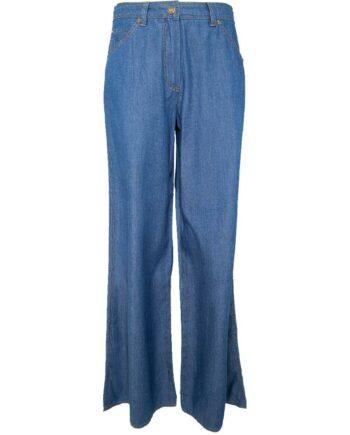 Jeans mit weitem, geradem Beinschnitt-0