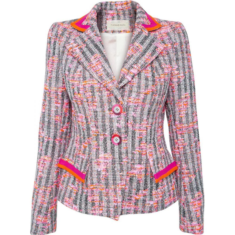 Leicht taillierter Tweed-Blazer mit Reverskragen-0