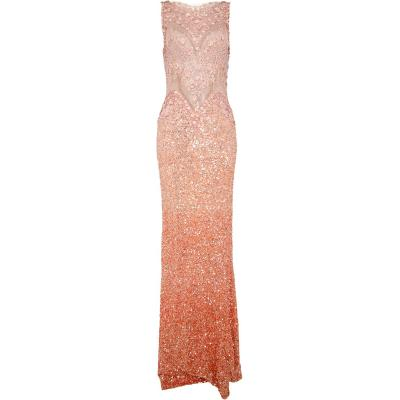 Silhouettennahes Kleid mit Allover-Paillettierung und transparenten Details-0
