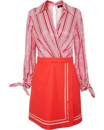 Kleid mit abnehmbarem Rockteil und tiefen Dekolleté-0