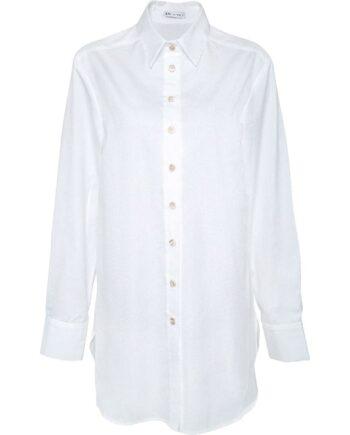 Oversize-Bluse in Baumwolle-0