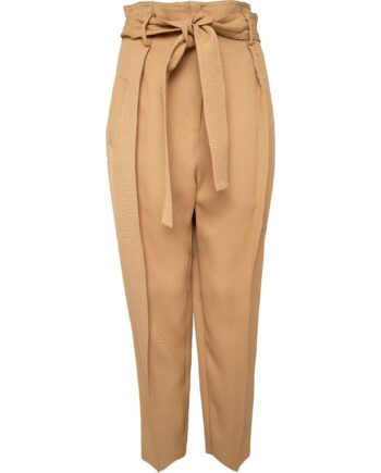 Taillierte High-Waist-Pant mit breitem Taillenbindegürtel-0