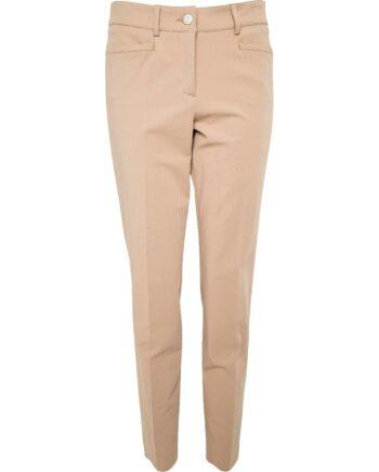 Hochelastische Pants im Baumwollmix mit geradem Beinschnitt-0