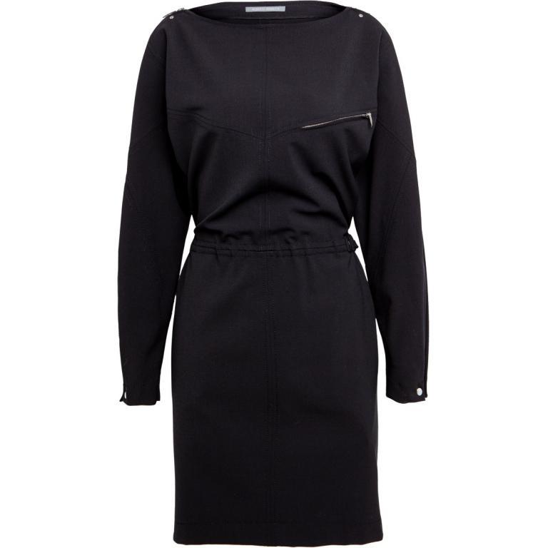 Tailliertes Minikleid mit langen Ärmel und Zip Details-0