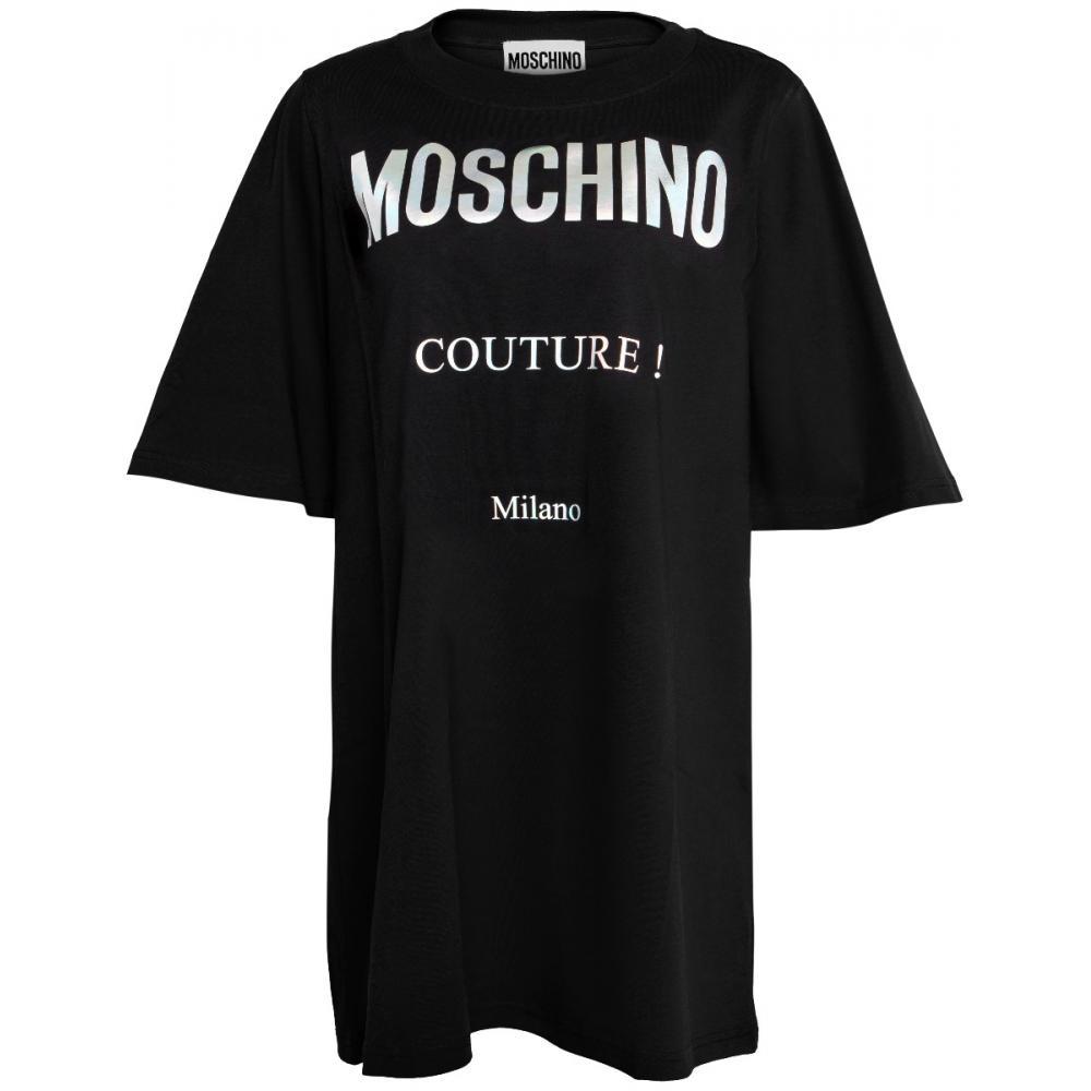 Oversize T-Shirt in Baumwolle mit Hologramm-Logo-0